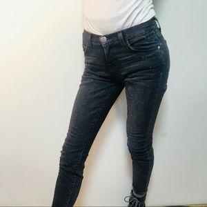 Current / Elliot Distressed Stiletto Skinny Jeans